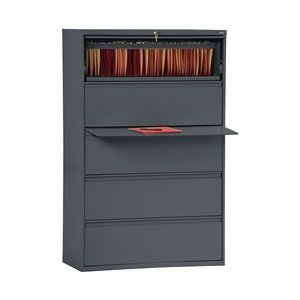Sandusky Lee LF8F425-02 800 Series 5 Drawer Lateral File Cabinet, 19.25