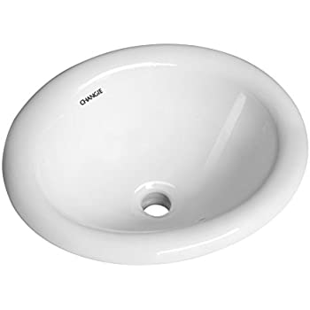 This Item Changie 1004w Bathroom Top Mount Vanity Sink Porcelain Drop In Basin White 17x15 Inches