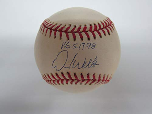 (Yankees DAVID WELLS AUTOGRAPHED SIGNED Baseball w/COA!! INSCRIBED PERFECT GAME w/DATE! )