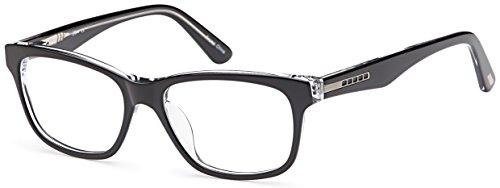 DALIX Girls Prescription Eyeglasses Frames 51-16-140-36 RXable in Black/Crystal - Eyeglasses Online Kids