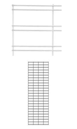2 x 6 foot White Slat Grid Panel - 3'' on Center ¼'' Thick