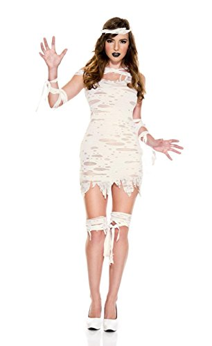 Sexy Mummy Adult Costumes (Miss Mummy Adult Costume - Medium/Large)