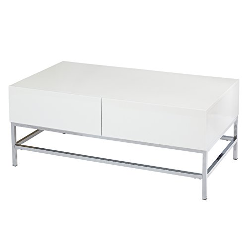 Target Marketing Systems 72402WHT Coffee Table, White (High Modern Gloss)