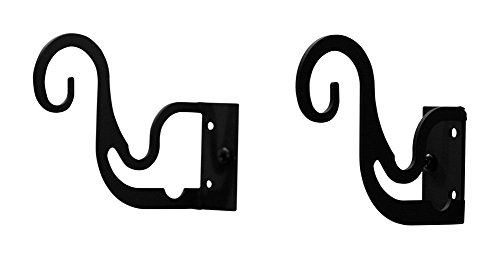 Wrought Iron Curtain Double/Triple Curtain Rod Brackets - Wrought Iron Drapery