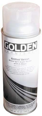 Golden Artist Colors Golden Archival Varnish Gloss 10 oz Spray Can