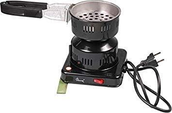 Shark Carbón Cigarrillos eléctrica 500 W Carbón Grabadora Shisha con móvil Carbón Cesta y carbón Alicate