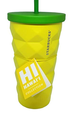 Starbucks Hawaii 2016 Pineapple Coffee Tumbler Cold Metal Cup 16 oz. Grande