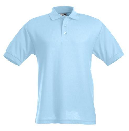 Polo Shirt 65 35 Fruit of the Loom viele Farben S-XXL skyblue,XL