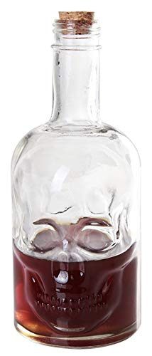 Ebros Gift Large 30 Ounces Skeleton Skull Face Glass Beer Whisky Vodka Scotch Liquor Corked Decanter Bottle Ossuary Macabre Halloween Decorative Collector Alcohol Drink Holder Party Hosting Serveware]()