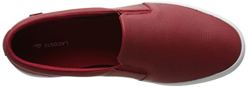 Lacoste Womens Gazon 116 1 Sneaker Mode Rouge Foncé