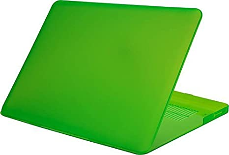 AVMART TRANSPARENT CRYSTAL FINISH APPLE MACBOOK PRO 13 13.3 HARD CASE SHELL COVER  Green  Laptop Accessories