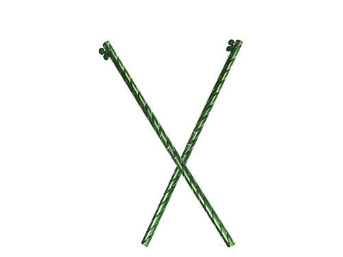 IndiaBigShop Aluminuim Dandiya, Sticks Pair of 2 with Green Color,Navratri Celebrations,Decorative Dandiy, Stick for Dandiya,Gift for Navratri Festival by IndiaBigShop