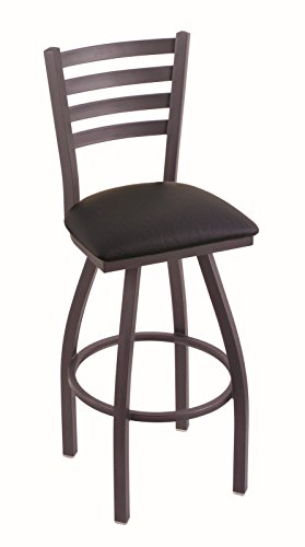 Holland Bar Stool Company 410 Jackie 30-Inch Bar Stool with Pewter Finish, Black Vinyl Seat and 360 Swivel from Holland Bar Stool Company