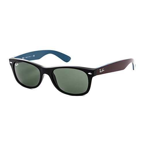 Ray-Ban RB2132 6182 Wayfarer Matte Black / Crystal Green Lens (Matte Black Crystal Green)
