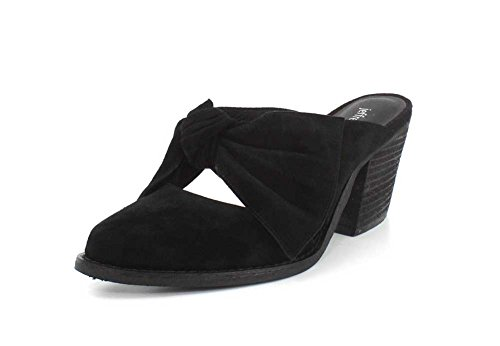 - Jeffrey Campbell Womens Cyrus Knotted Mary Jane Black Suede Clog - 7