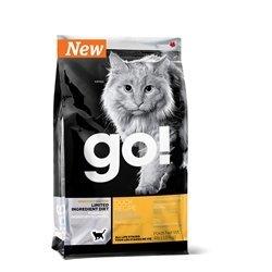 (Petcurean 815260001496 Go! Sensitivity + Shine L.I.D. Grain Free Duck Recipe Dry Cat Food, 4 Lb)
