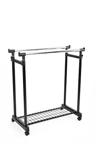 Langria Double Rail Clothes Racks Commercial Grade Height