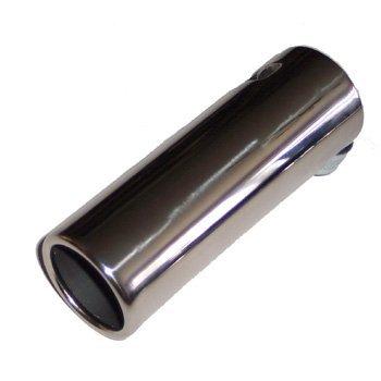 Etech - Embellecedor de acero inoxidable para tubo de escape, grande, 55-65mm