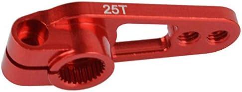 Negro Facibom 1PCS Aleaci/óN de Aluminio 25T 31Mm Bocina de Brazo Servo de Direcci/óN para Piezas de Oruga de Coche RC