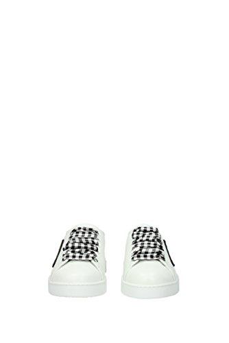 Miu Cuir 5E732BNAPPA18 Blanc Miu EU Femme Sneakers dtwnnxqS7Z