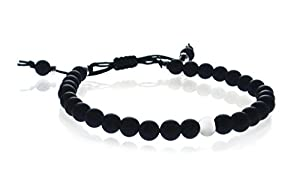 Matt Onyx Sterling Silver 6mm Shamballa Bead Bracelet