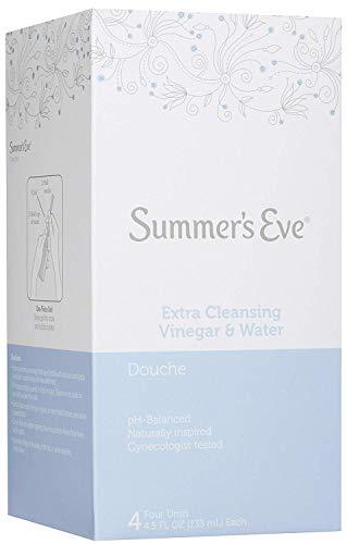 ((Pack of 12 Bottles) Summer's Eve Extra Cleansing Douche Vinegar & Water, Feminine Wash, 4.5oz Bottles. PH Balanced, Naturally Inspired, Gynecologist Tested (Pack of 12 Bottles, 4.5oz Each Bottle))