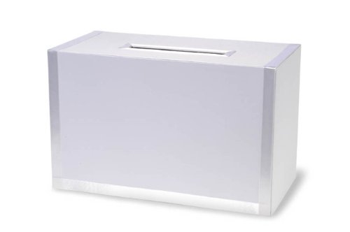 (Darice VL0038B, Square Card Box with Bottom Door, White Ribbon)