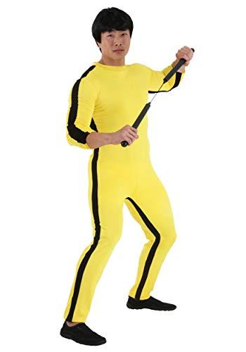 Bruce Lee Costumes Halloween (Bruce Lee Costume with Wig Medium)