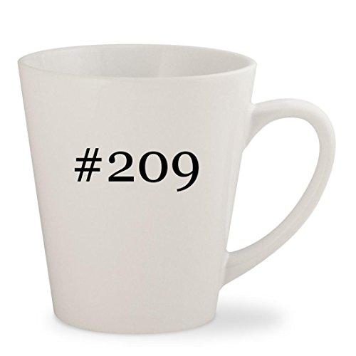 #209 - White Hashtag 12oz Ceramic Latte Mug Cup