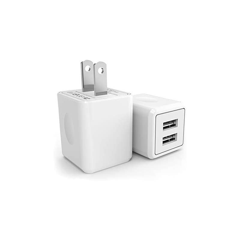 USB Wall Charger,Canyso 2Pack 2.1A/5V Du