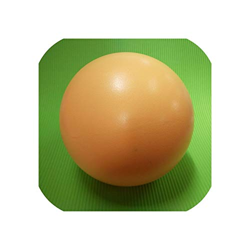 (Mini Yoga Ball Physical Fitness Ball for Fitness Appliance Exercise Balance Ball Home Trainer Gym Yoga Pilates 25cm,Yellow)