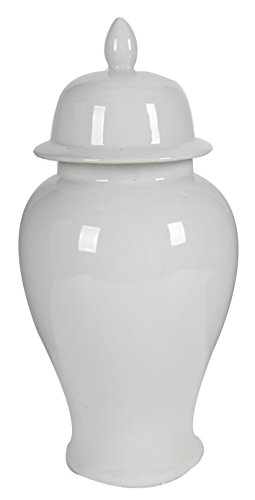 A&B Home Ginger Jar, 9.8 by 20-Inch (Ginger Jar White)