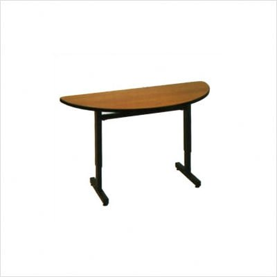 Half Round Classroom Table Color/Side Finish/Frame: Cactus Star/Black/Black, Table Size: 60