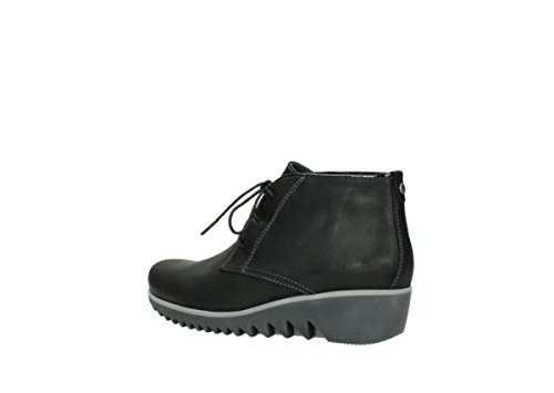 Zapatos Lace leather 50010 Wolky black 03816 nbsp;Dusky CW Up comodidad invierno qgwx5t