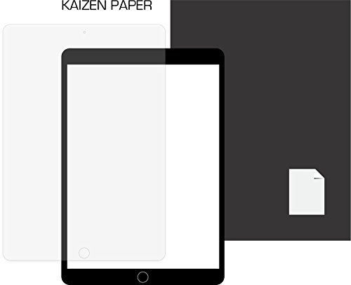 """Feel Protector - KAIZEN Paper iPad Pro 10.5"""" Screen Protector/NO MORE slippery glass/Feels like writing & sketching on paper/Replace your notebooks for artists and students"""