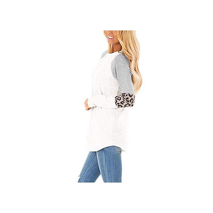 316%2BTgpA1JL Característica: las tapas de manga larga están con ojos y rayas, que es nuevo diseño en este año, muy novedoso. Diseño: las camisas casuales de la blusa de las mujeres diseñadas con tops de manga larga, camisas casuales de cuello redondo, camiseta de ojo, camisetas de túnica raglán, ajuste holgado y camiseta básica. Material cómodo: las camisetas de manga larga están hechas de poliéster.