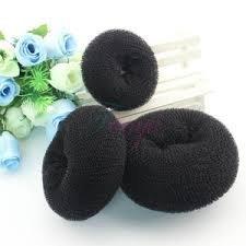 NiceButy - Lot de 3 donuts en mousse pour chignon (1 petit, 1 moyen et 1 grand) (noirs)