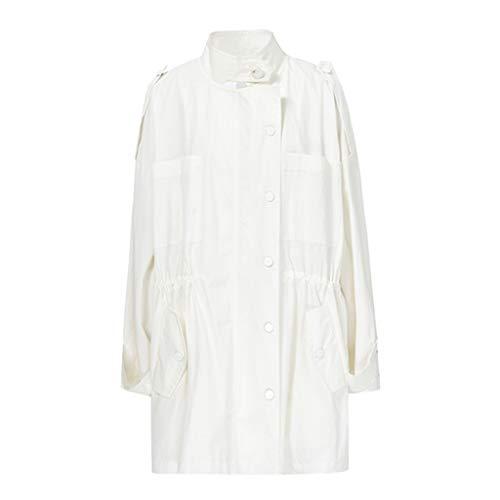 Primavera Size Vento Giacche Camicia Uomo S A Da Donna Bianca Giacca Bianca Casual Cappotti color T7YwqSUx7