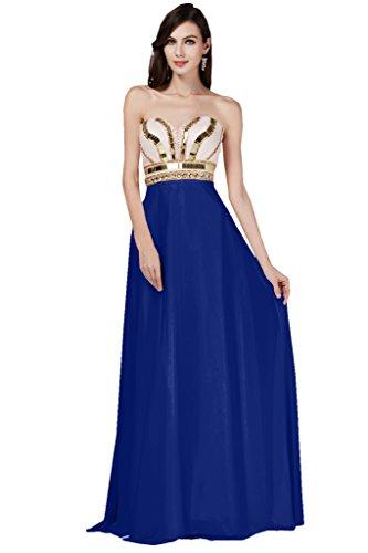 TOSKANA BRAUT, hermoso vestido de gasa con escote corazón para damas de honor, vestido de noche largo de fiesta azul real