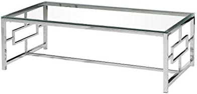 Editors' Choice: Best Master Furniture E-Design Stainless Steel Glass Top Coffee Table