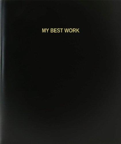 BookFactory My Best Work Log Book / Journal / Logbook - 120 Page, 8.5''x11'', Black Hardbound (XLog-120-7CS-A-L-Black(My Best Work Log Book)) by BookFactory