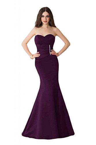 Sunvary corte esbelto de sirena satén Pageant Celebrity vestidos largo vestidos del baile Violeta