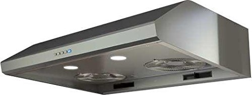 "Zephyr AK2500BS 30"" Power: Hurricane Under Cabinet Hood with 695 CFM 5.5 Sones Electronic Touch Controls 3 Speed Levels and Halogen Lighting in Stainless steel"