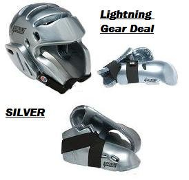 Lightning SILVER Karate Sparring Gear Package Deal - Adult X-Large