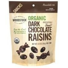 Woodstock Farms Organic Dark Chocolate Raisin, 8.5 Ounce - 8 per case.