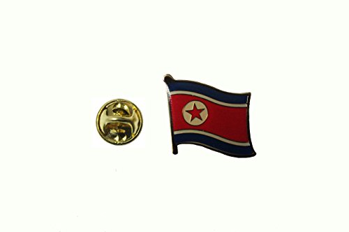 Korea Country Flag (North Korea Country Flag Small Metal Lapel Pin Badge ... 3/4 X 3/4 Inches ... New)