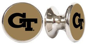 Georgia Tech Yellow Jackets NCAA Stainless Steel Cabinet Knobs / Drawer Pulls (2-pack)