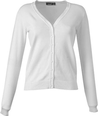 buy online 0d205 8b16f Hanes Damen Ladies V-Neck Cardigan Strickjacke in Weiss, Grösse S
