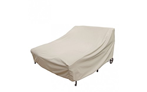 Treasure Garden Double Chaise Lounge with elastic and 4 ties - Protective Furniture Covers ()