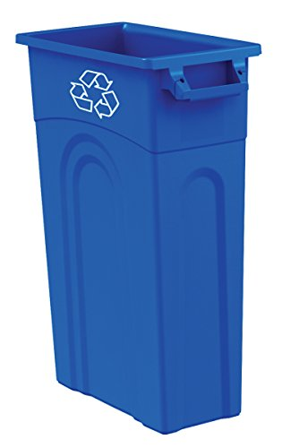 United Solutions TI0033 Highboy Recycling Container In Blue, 33 Gallon, Pack of 4, Slim Fit Wastebasket by United Solutions